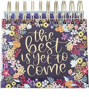 bloom daily planners Undated Perpetual Desk Easel/Inspirational Standing Flip Calendar - (5.25