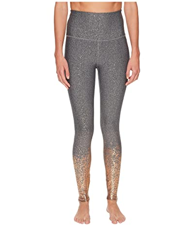 Beyond Yoga Alloy Ombre High Waisted Midi Leggings (Black/White Rose Gold Speckle) Women