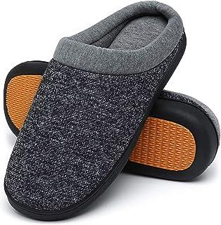 Mishansha Zapatillas de Casa Hombre Mujer Cálido Espuma de Memoria Invierno Pantuflas, Gr.36-46 EU