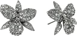 Pave Small Orchid Earrings
