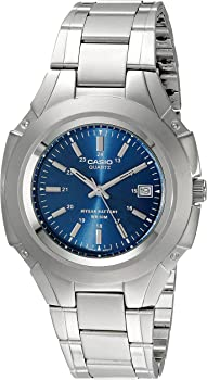 Casio Analog Stainless Steel 10-Year Battery Men's Watch