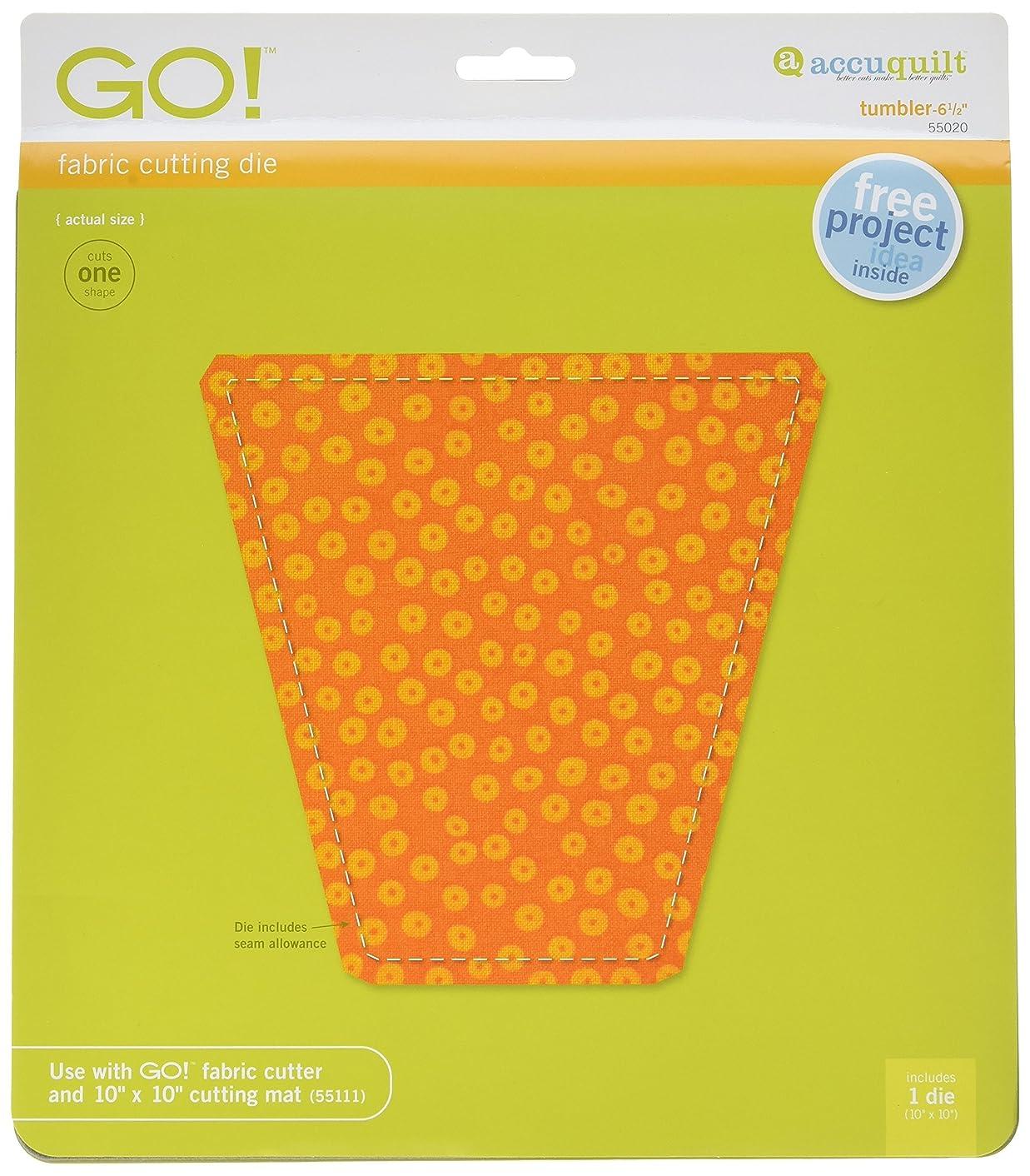 AccuQuilt GO! Fabric Cutting Dies; 6-1/2 inch; Tumbler