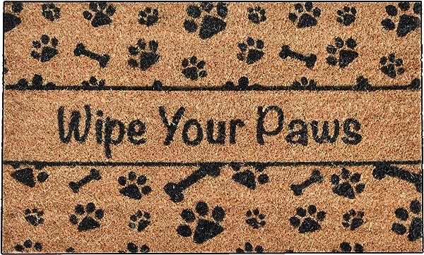 Ninamar Door Mat Wipe Your Paws Natural Coir 29 5 X 17 5 Inch