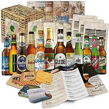 12 Bier Spezialitäten aus Deutschland (Die besten deutschen Biere) als Probierpaket zum Verschenken in Geschenkverpackung 12 x 0,33l / romantisches Weihnachtsgeschenk Geschenk für Freund Ihn Mann Männer