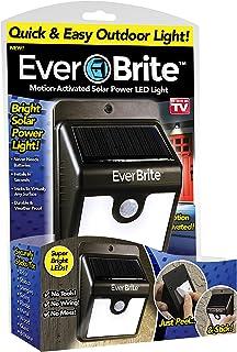 Ever Brite Motion Activated LED Solar Light, Black