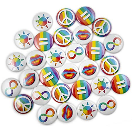 Pride rainbow flag inspired personalized buttons