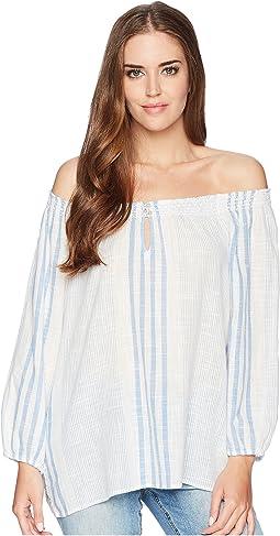 Cotton Off-the-Shoulder Shirt