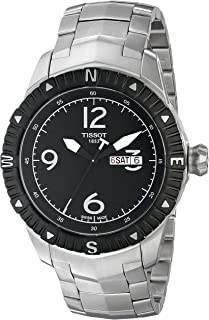 Tissot Men's Black Dial Metal Band Watch - T062.430.11.057.00, Analog Display