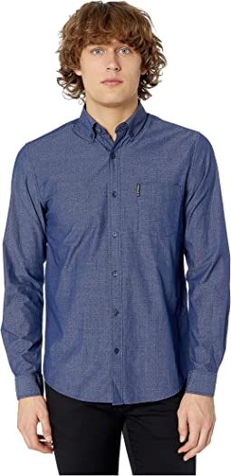 Long Sleeve End on End Dobby Shirt