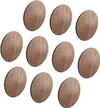 Gedotec Minifix Afdekdoppen van hout voor blindboring Ø 35 mm | massief eiken onbehandeld | totaal Ø 38 mm | doppen rond o...