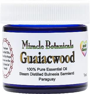 Miracle Botanicals Guaiacwood Essential Oil - 100% Pure Bulnesia Sarmienti - Therapeutic Grade - 30ml/1oz