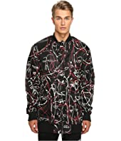 Haculla - One of a Kind Bloodwork Drop Sleeve Bomber