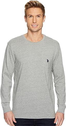 Long Sleeve Crew Neck Pocket T-Shirt