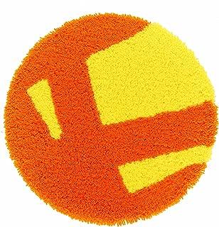 スミノエ チェアパッド ピカ 35×35cm円形 オレンジ 14342499