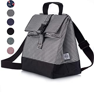 Thermal Insulated Lunch Bag - Reusable Leakproof Cooler for Men, Women and Kids - Adjustable Shoulder Strap for Outdoor Activities, Work or School