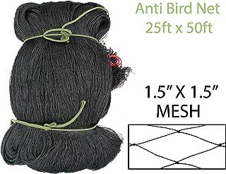 Amaranth Nets 25' x 50' Bird Netting with 1.5