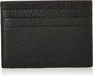 Tommy Hilfiger Downtown Card Case Holder, Black, AM0AM05651