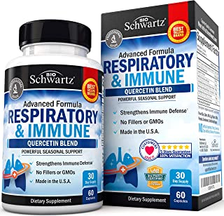 Respiratory & Immune Supplement with Quercetin for Lung Health Support - Soothes Respiratory Tissues & Helps Loosen Mucus ...