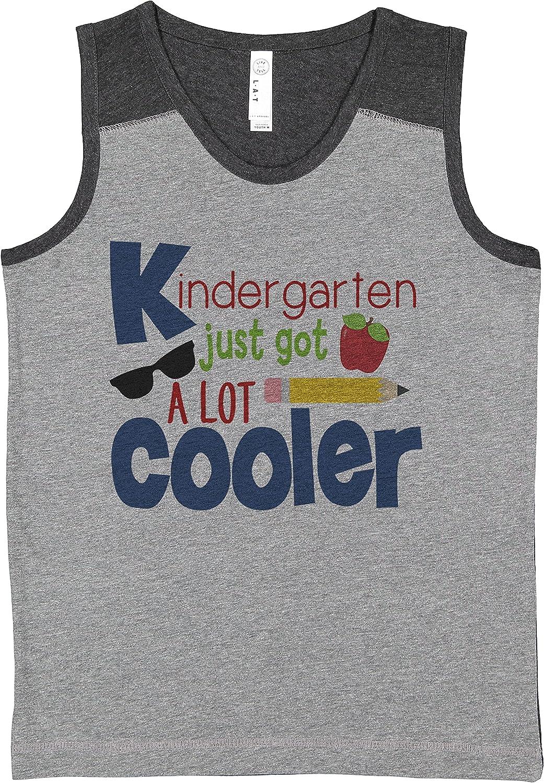 7 ate 9 Apparel Boy's School Kindergarten Cooler Grey Contrast Tank Top