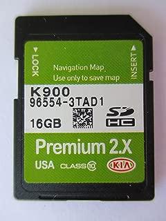 3TAD1 2015 2016 KIA K900 Navigation MAP Sd Card ,GPS UPDATE , U.S.A OEM PART # 96554-3TAD1 16GB PREMIUM