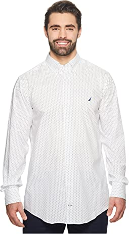 Nautica Big & Tall - Big & Tall Dot Printed Woven Shirt