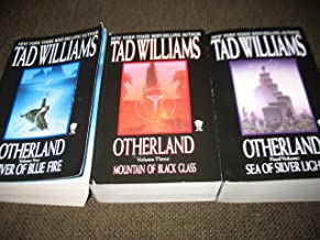 3 Book Set by Tad Williams~Otherland~River of Blue Fire/Mountain of Black Glass/Sea of Silver Light (Vol. 2, 3 & 4)