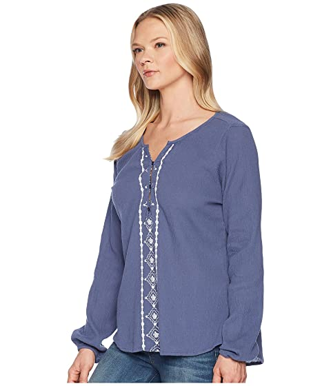 Free Shipping Official Site Websites Online Aventura Clothing Malia Long Sleeve Top Blue Indigo Discount Manchester Great Sale Cheap Sale Factory Outlet Countdown Package For Sale DY4WA