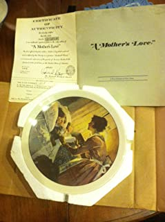 Norman Rockwell A Mother's Love Mothers Day 1976 Plate by Rockwell Society