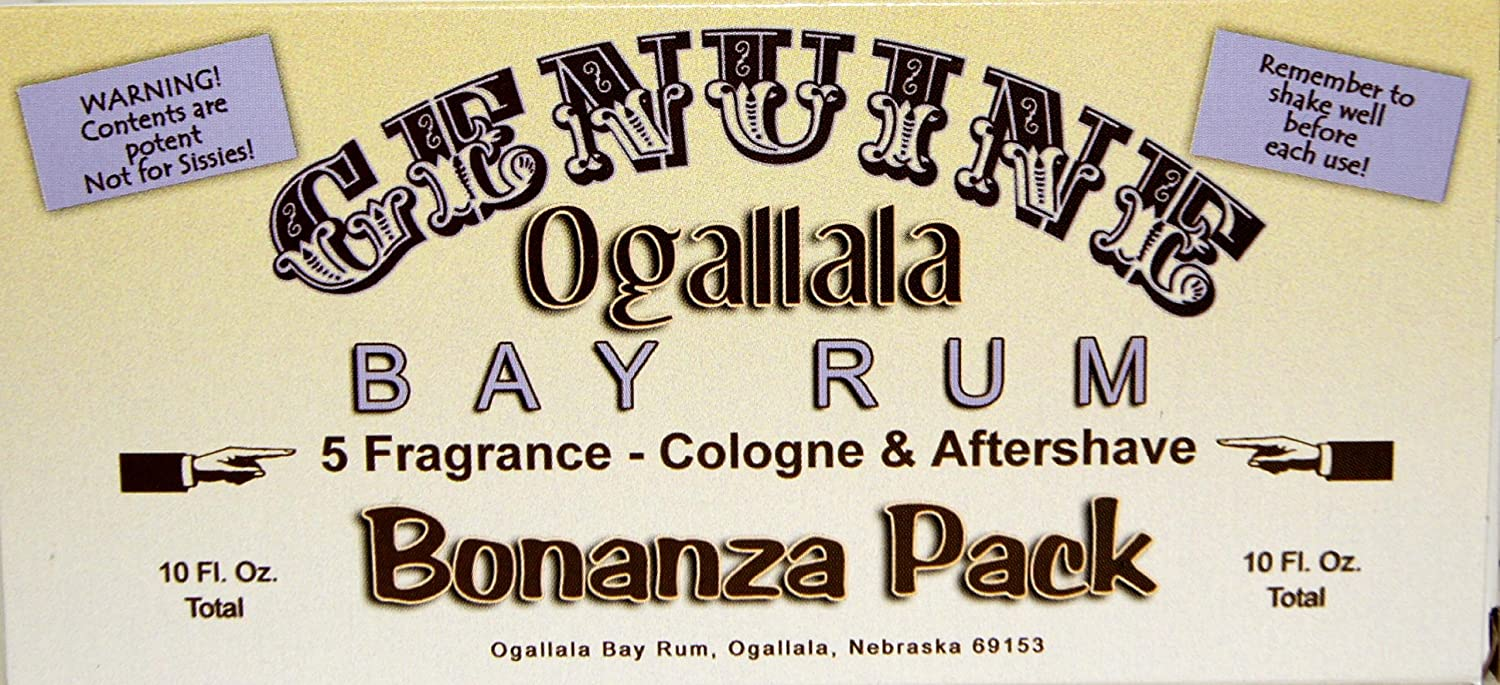 Genuine Ogallala Spring new work Bay Rum Bonanza 1 each High material two-ounce Ge bottle of: