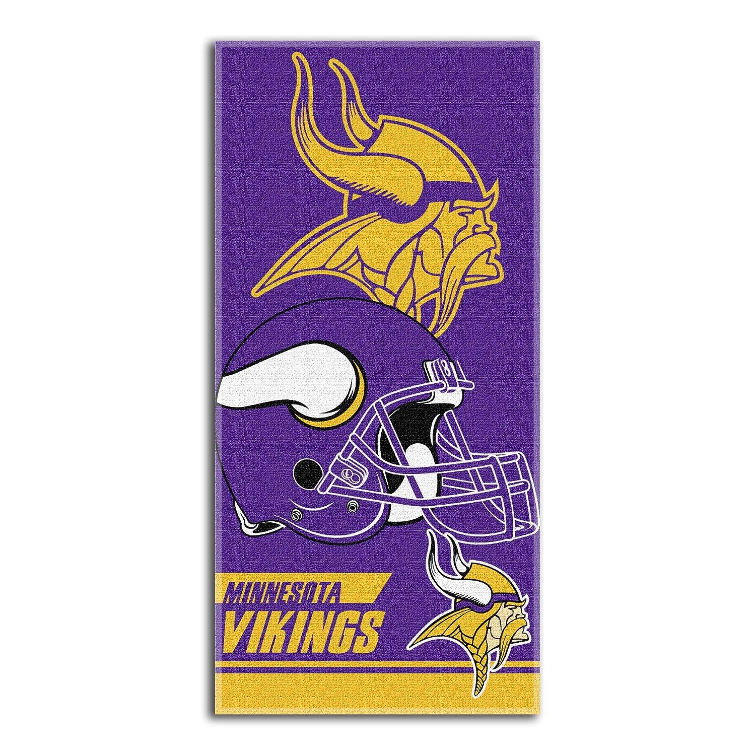 勝利石油キャップNFL Minnesota Vikings Double Coveredビーチタオル、28?x 58-inch