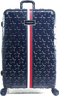 Tommy Hilfiger Premium Starlight Hardside Spinner Luggage, Navy, 28 Inch