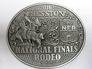 Hesston 2016 National Finals Rodeo NFR Adult Belt Buckle, NEW Cowboy, Wrangler, Prorodeo