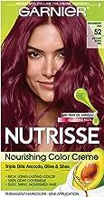 Garnier Hair Color Nutrisse Nourishing Hair Color Creme, Strawberry Jam 52, Medium Berry Red, 1 Count