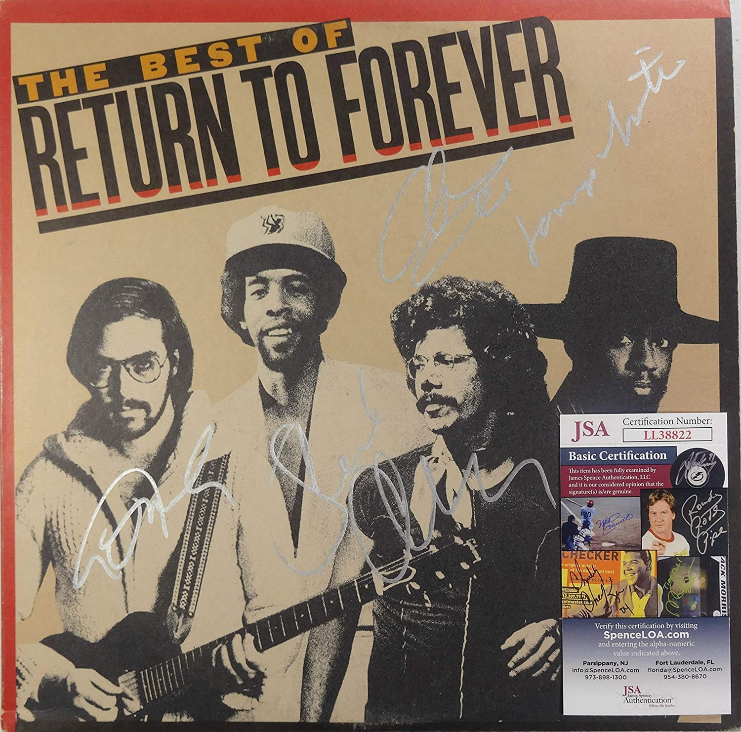 Signed Arlington Mall Return To Forever Autographed 12
