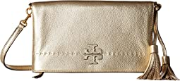 Tory Burch - McGraw Metallic Fold-Over Crossbody