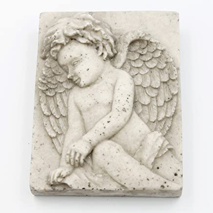 Dekofigur Engel 38 x 25 x 21 cm Grabschmuck Trauer Schutz Figur Statue Garten