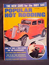 1965 65 June POPULAR HOT RODDING Magazine, Volume 4 Number # 6 (Features: POP ROD REPORTS: Cars Chicago Style & Save The Salt / The New Cars For The Indy 500)