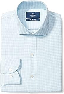 Amazon Brand - BUTTONED DOWN Men's Slim Fit Plaid Dress Shirt, Supima Cotton Non-Iron