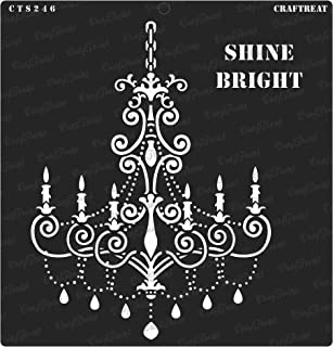 CrafTreat Stencil - Shine Bright   Reusable Painting Template for Journal, Home Decor, Crafting, DIY Albums, Scrapbook, Decoration and Printing on Paper, Floor, Wall, Tile, Fabric, Wood 12