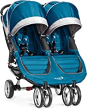 Baby Jogger City Mini Double Stroller - 2016 | Compact, Lightweight Double Stroller | Quick Fold Baby Stroller, Teal/Gray