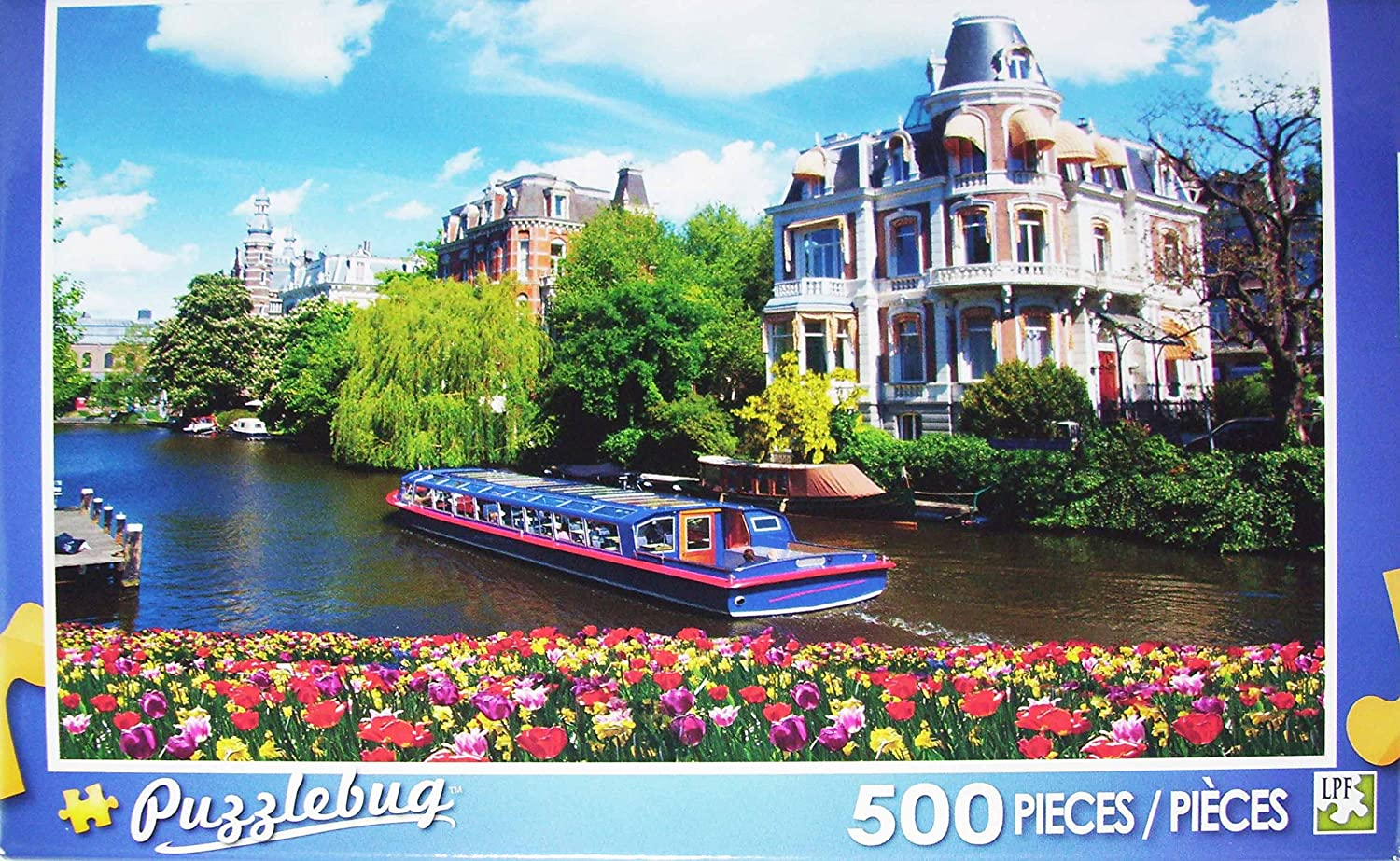 PuzzleBug 500 Piece Puzzle  Canals in Amsterdam by Puzzlebug