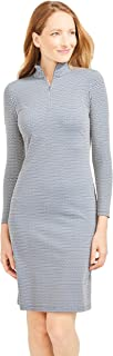 J.McLaughlin Womens Bedford Long Sleeve Pullover Dress in Daub Geo