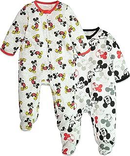 Mickey Mouse Baby Boys 2 Pack Footie Pajamas