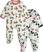 Disney Mickey Mouse Baby Boys 2 Pack Footie Pajamas