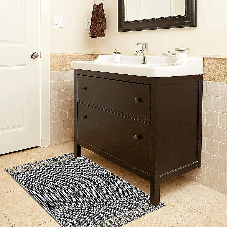 Buy Upgraded Boho Bathroom Rug 20'x20', 20 Woven Boho Rug for ...