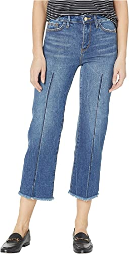 Chelsea High-Rise Wide Leg Crop Jeans in Thula