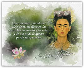 Ramini Brands Cuando Me Alejo De Ti Frida Kahlo Inspirational Quote - 8 x 10 Unframed Print - Great Gift for Art History Teachers, Artists and Nature Lovers - Wall Art