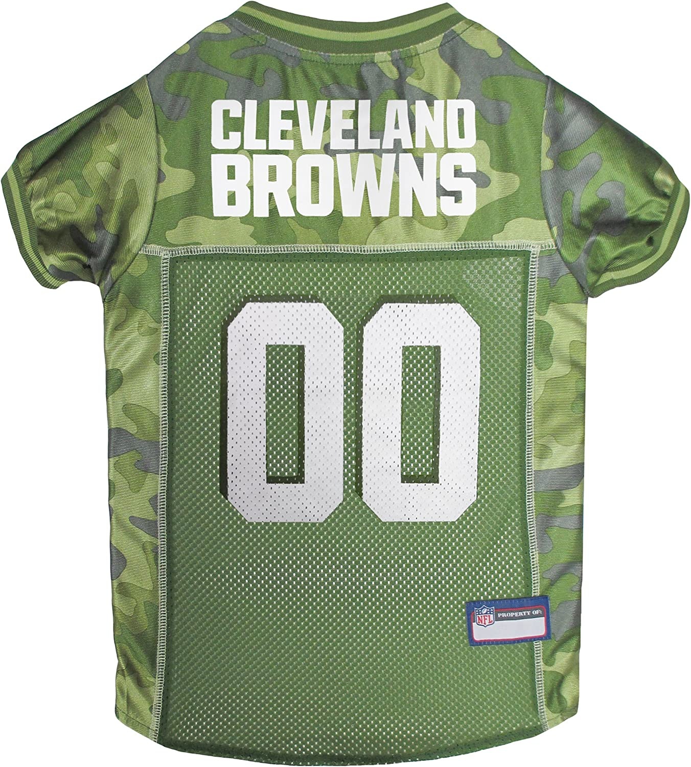 NFL Cleveland Browns Camouflage Dog Jersey, XLarge.  CAMO PET Jersey Available in 5 Sizes & 32 NFL Teams. Hunting Dog Shirt