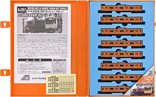 Series 201 Renewal Train Orange Colour (8-Car Set) (Model Train)