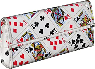 Clutch Bag Made From Real Playing Cards Prime Fun purse gift idea for card player bridge poker solitaire addicts upcycled style eco friendly vegan recycled reclaimed repurposed reused casino handbags